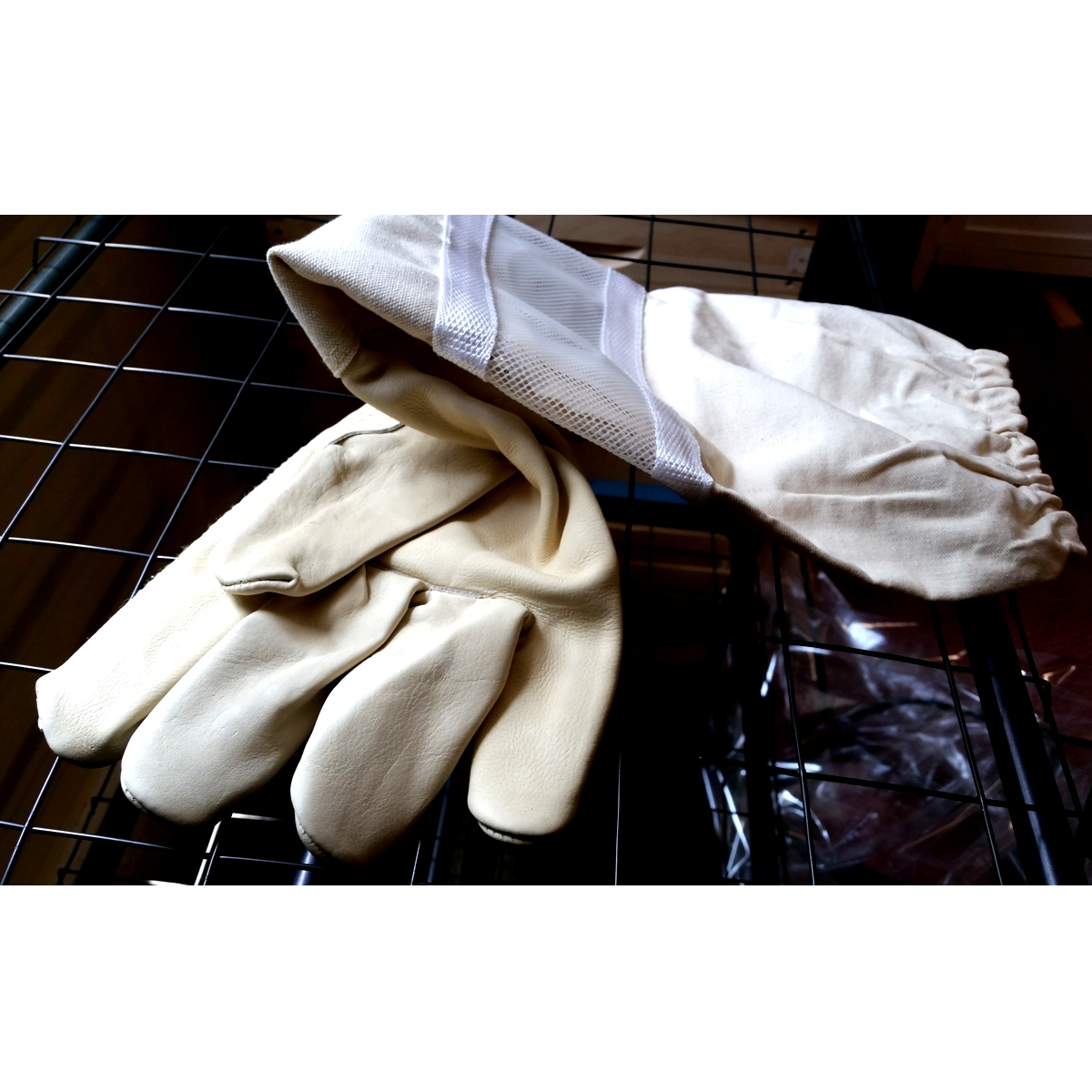 Vented Beekeeping Gloves, 2XL Cowhide